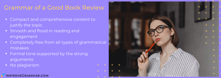 reviewing grammar on a book review